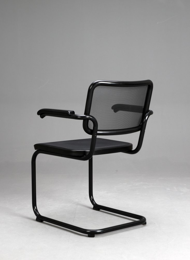 thonet s64 n freischwinger bauhaus klassiker stuhl schwarz breuer chair ebay. Black Bedroom Furniture Sets. Home Design Ideas