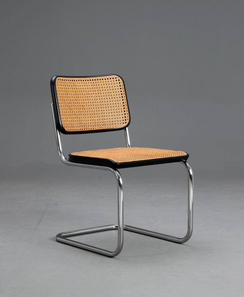 thonet s32 freischwinger bauhaus klassiker stuhl schwarz breuer chairs ebay. Black Bedroom Furniture Sets. Home Design Ideas