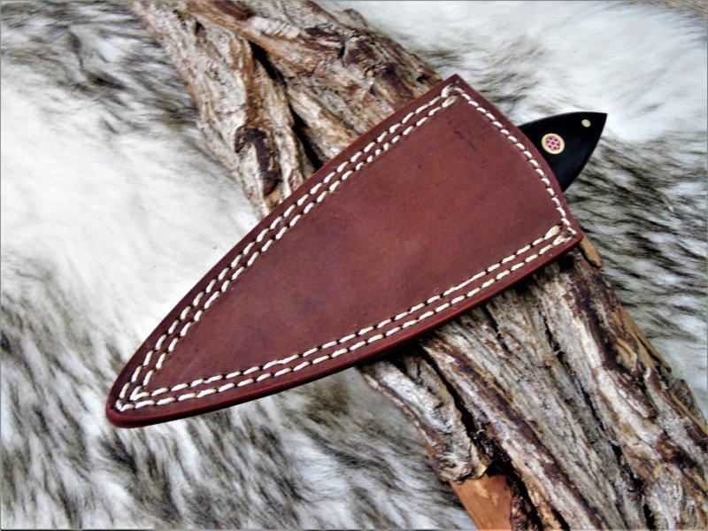 sehr schönes Hand geschmiedetes Damast Jagd Messer 0115 Damast  Messer