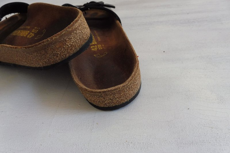 Details zu Birkenstock Madrid Sandale tten Pantoletten Lack Leder Sohle schwarz Gr 42 BS26