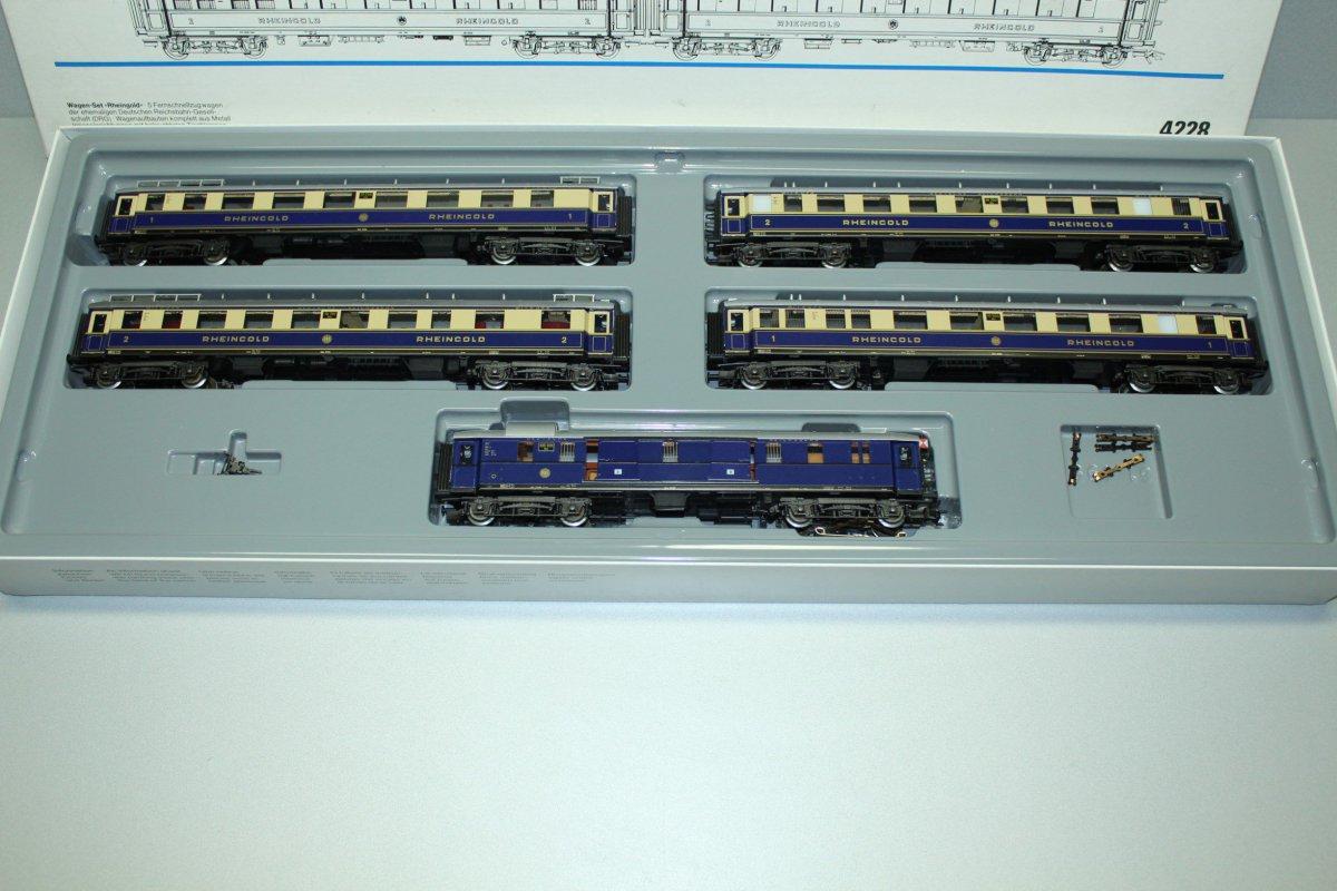 Märklin 4228 Personenwagen-Set Rheingold 5-teilig Spur H0 OVP