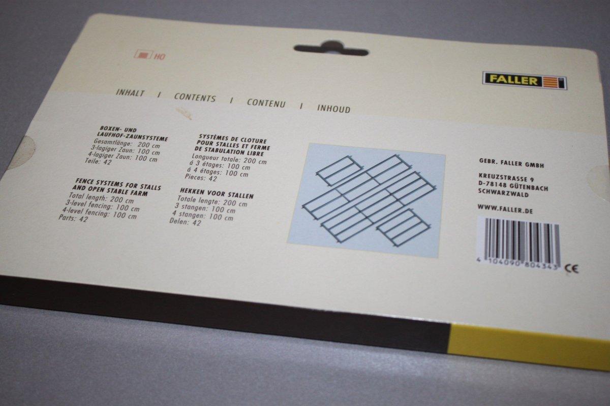 Faller Boxen und Laufhof-Zaunsysteme   Nr.180434 Spur H0,