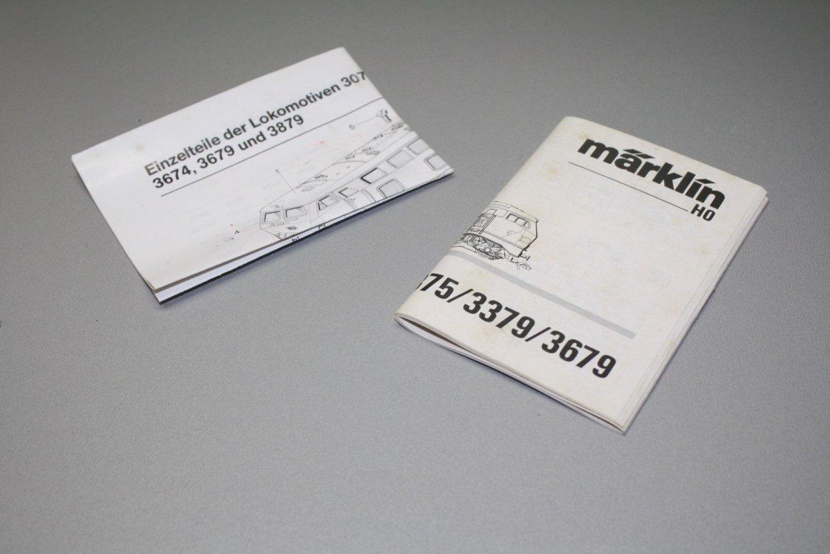 Marklin Betriebsanleitung 3379 3375 3374 Mit Ersatzteilblatt Spur H0