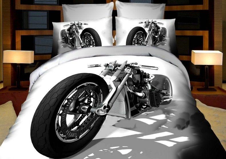 4 Tlg 3d Effekt Bettwäsche Bettbezug Bettgarnitur 200x220 Cm Harley