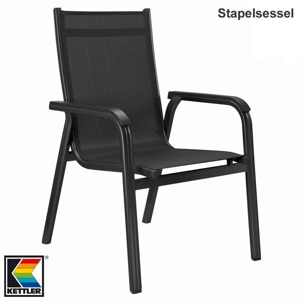 6 kettler basic plus stapelsessel gartenm bel stapelstuhl sessel stapelst hle ebay. Black Bedroom Furniture Sets. Home Design Ideas