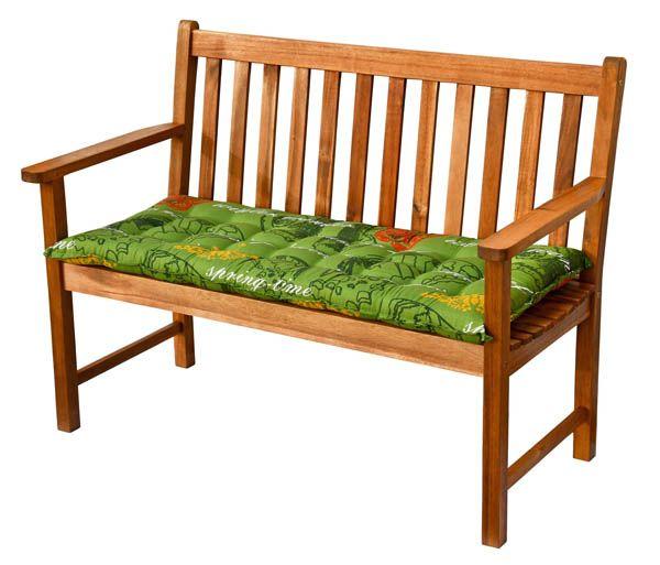 auflagen in gr n f r gartenbank 110 cm lang bankauflagen bank kissen bankauflage ebay. Black Bedroom Furniture Sets. Home Design Ideas