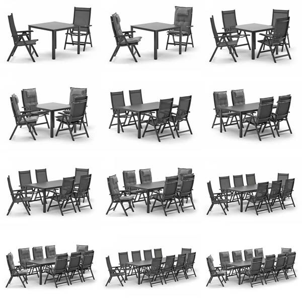 Kettler BASEL Gartenmöbel 16 Sets zur Wahl bis zu 10 Sessel, Tisch ...