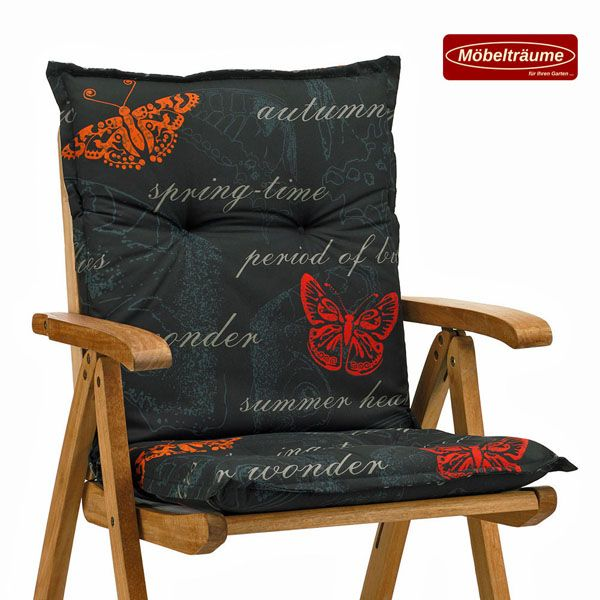 6 auflagen in schwarz f r niederlehner sessel niedrig stuhl niedriglehner kissen ebay. Black Bedroom Furniture Sets. Home Design Ideas