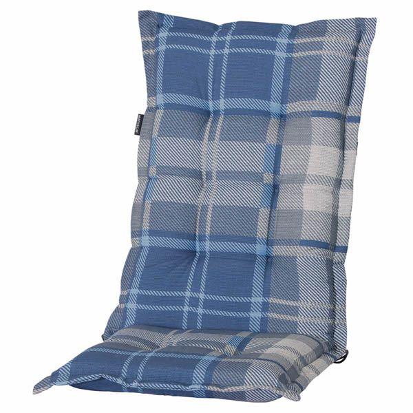 6 gartenpolster hochlehner sessel auflagen polster kissen sitzkissen blau karo ebay. Black Bedroom Furniture Sets. Home Design Ideas