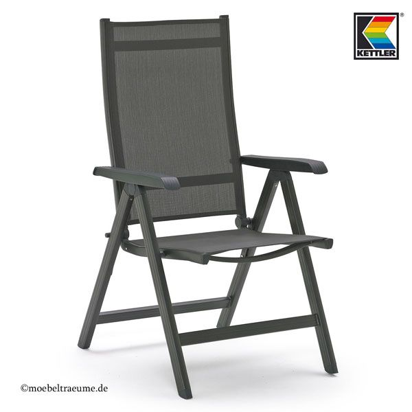 KETTLER Basel Gartenmöbel 1 Tisch 140 cm und 4 Sessel und 4 Auflagen ...