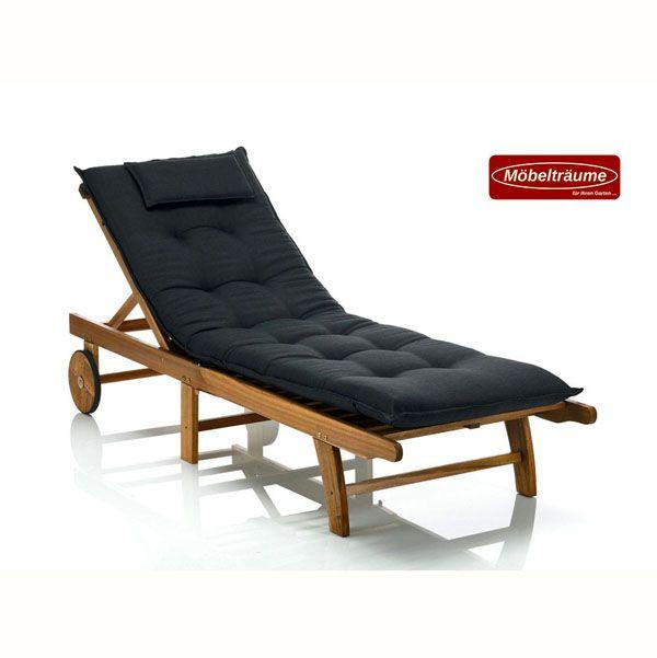 2 premium auflagen f r liegen 9 cm dick mit kopfpolster liegenauflagen schwarz ebay. Black Bedroom Furniture Sets. Home Design Ideas