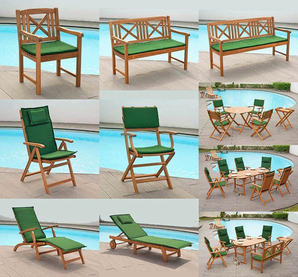 2 auflagen fuer hochlehner sessel stuhl liegen deckchair klappstuhl gartenbank ebay. Black Bedroom Furniture Sets. Home Design Ideas