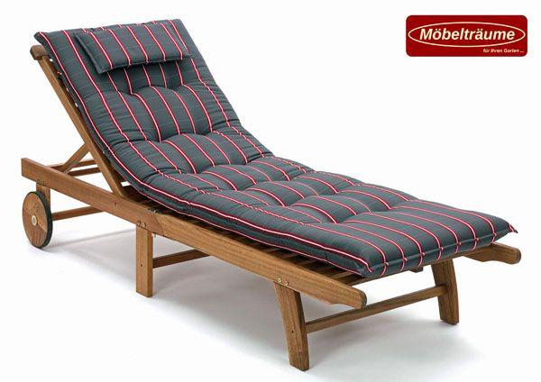 luxus auflagen f r liegen 190 x 60 cm lang 9 cm dick miami 20426 701 in grau ebay. Black Bedroom Furniture Sets. Home Design Ideas