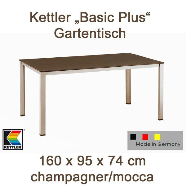 kettler gartentisch tisch diningtisch 160 x 95 cm in. Black Bedroom Furniture Sets. Home Design Ideas