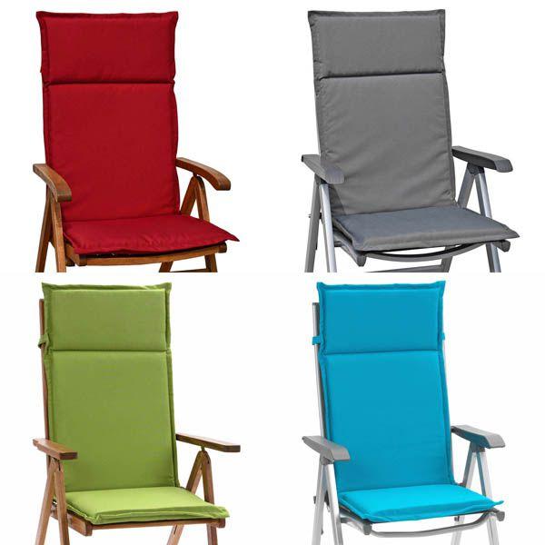 sonderpreis 6 hochlehner auflagen in grau rot blau gr n sun garden gartenpolster ebay. Black Bedroom Furniture Sets. Home Design Ideas