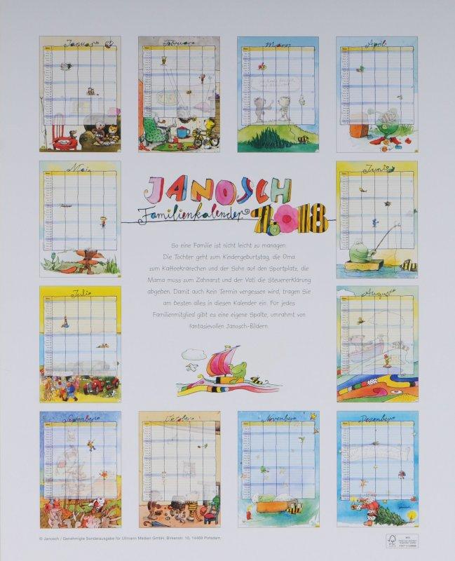 janosch kalender 2018 familienkalender posterformat. Black Bedroom Furniture Sets. Home Design Ideas