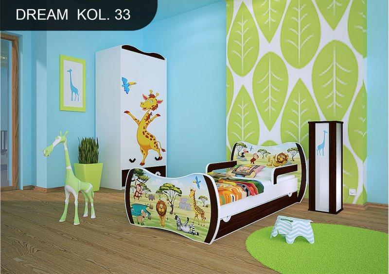 dm kinderbett wenge mit matratze bettkasten und lattenrost. Black Bedroom Furniture Sets. Home Design Ideas