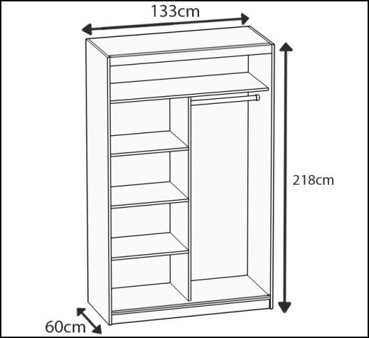 neu schwebet renschrank kleiderschrank beauty 133x218x60 cm viele farbvarianten ebay. Black Bedroom Furniture Sets. Home Design Ideas