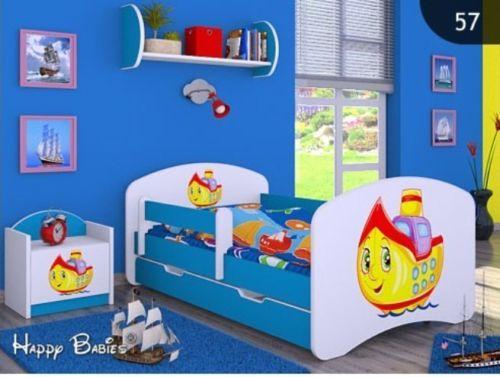 kinderbett mit matratze bettkasten und lattenrost. Black Bedroom Furniture Sets. Home Design Ideas