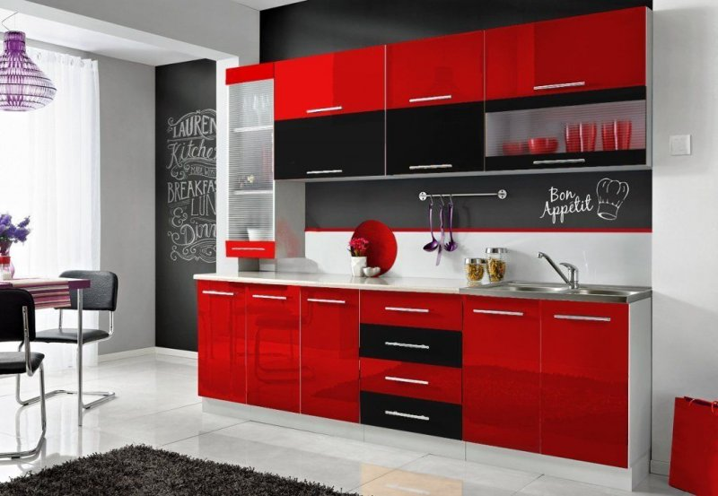 komplette k che moni s 260 cm verschiedene. Black Bedroom Furniture Sets. Home Design Ideas