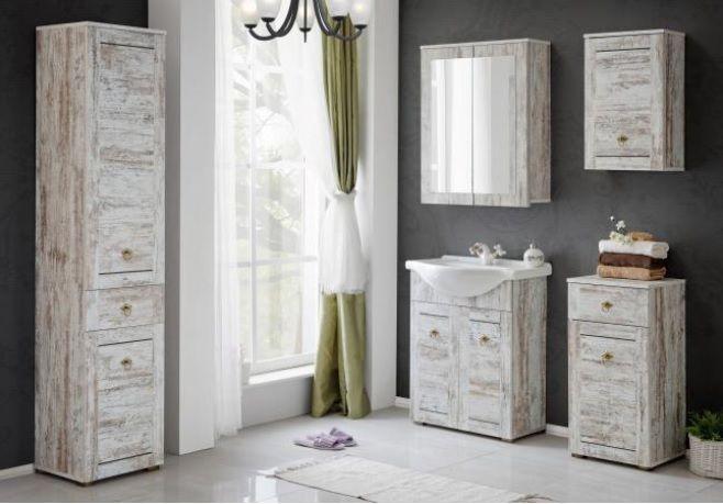 badm bel set provence 65 shabby chic badm bel mit waschbecken badm belset ebay. Black Bedroom Furniture Sets. Home Design Ideas