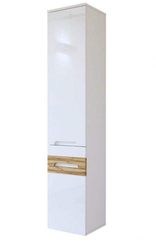 badm bel set galaxy 120 mit doppelwaschbecken weiss hochglanz eiche matt led ebay. Black Bedroom Furniture Sets. Home Design Ideas