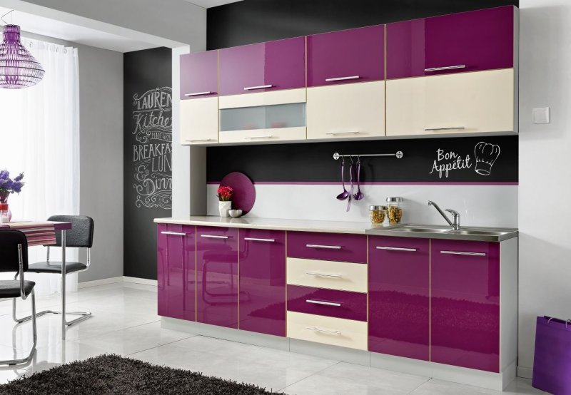 komplette k che moni n 260 cm verschiedene. Black Bedroom Furniture Sets. Home Design Ideas