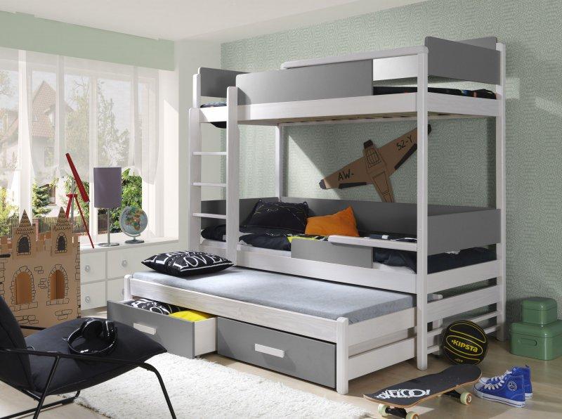 Drei Etagenbett : Massivholz kiefer etagenbett liegeflächen ink matratzen