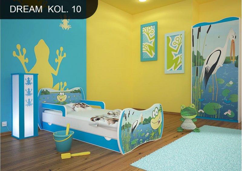 dm kinderbett blau mit matratze bettkasten und lattenrost motive m dchen dm ebay