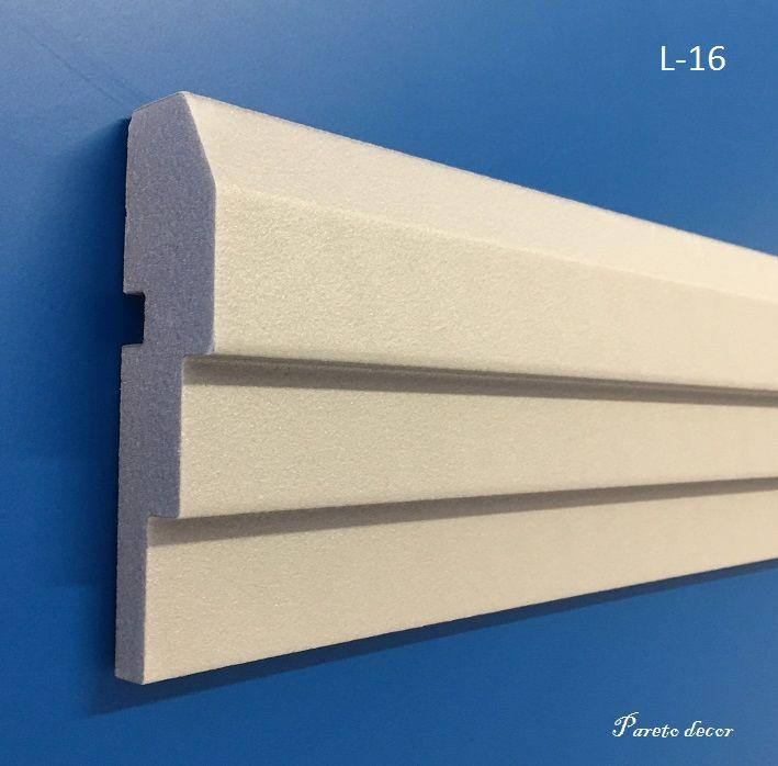 1,2 Meter Außenstuck Fassade Haus Außen Wand 122 cm Flachleiste stoßfest L-5