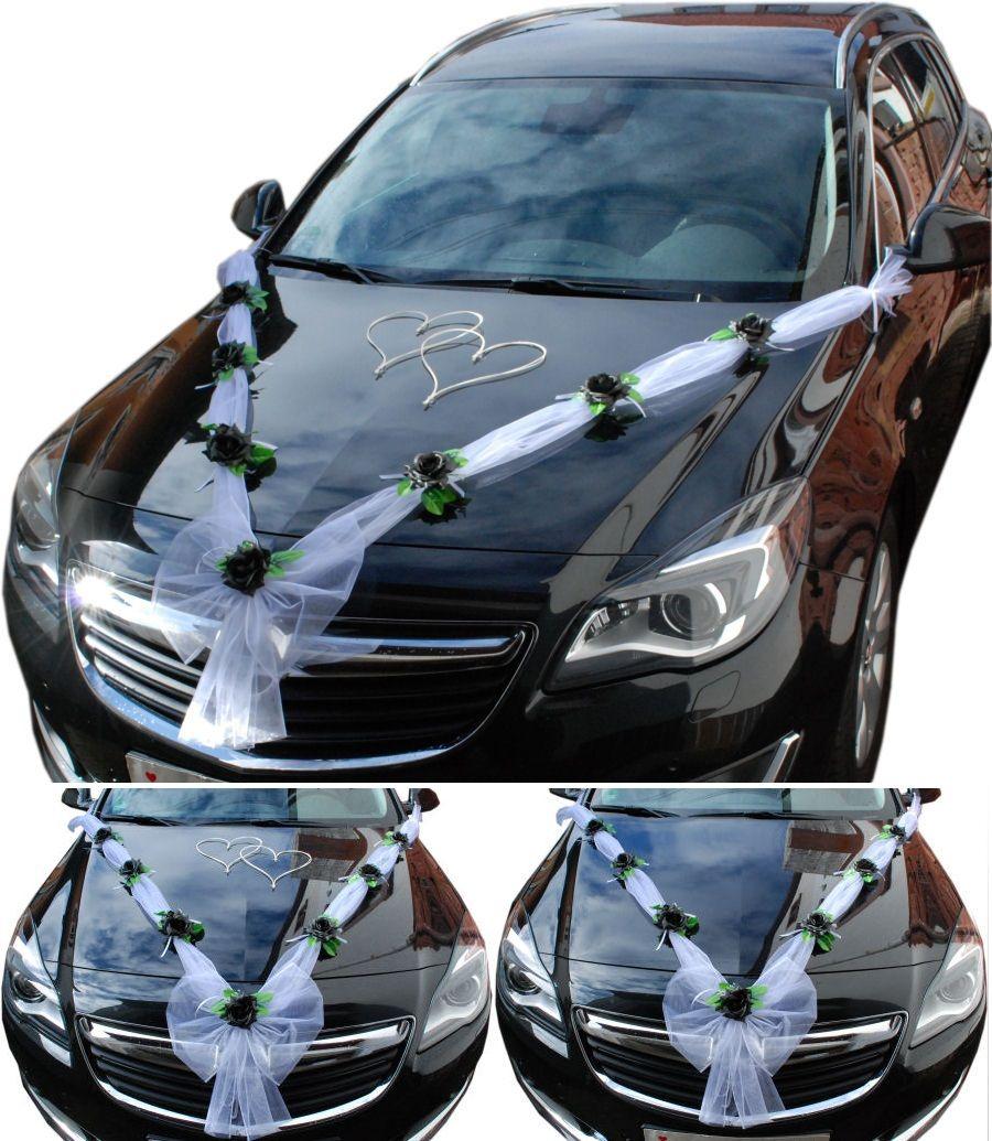 2 Herzen weiß//creme Brautauto Autodeko Autoschmuck Hochzeitsauto Autogirlande