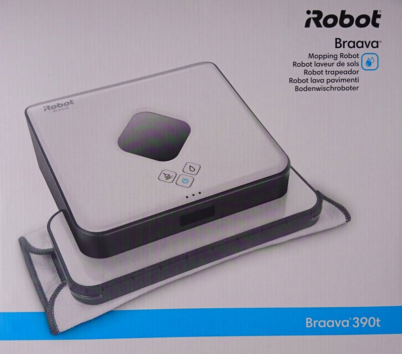 irobot braava 390t boden wischroboter nass trocken wischer mopping robot ebay. Black Bedroom Furniture Sets. Home Design Ideas