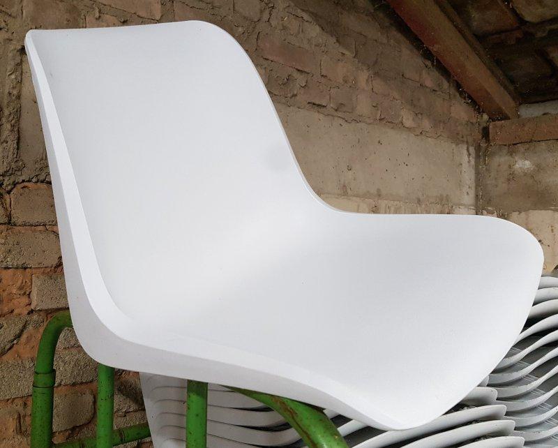 weiß//grau 1 neue Sitzschale für Helmut Starke Designer Stuhl EUROPA