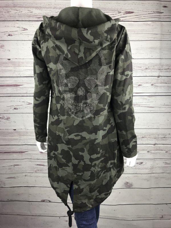 Totenkopf One Size Überwurf Jacke Neu Damen Camouflage Trend oCxBerdW
