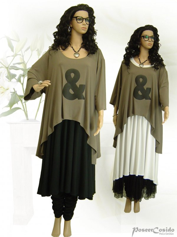 XXXL 46 48 50 52 54 56 58 PoCo LAGENLOOK Overlay Shirt Überwurf weiß L-XL-XXL
