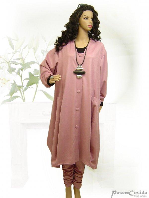 LAGENLOOK Lederlook Shirt Tunika Chasuble Jacke XL-XXL-XXXL 46 48 50 52 54 56 58