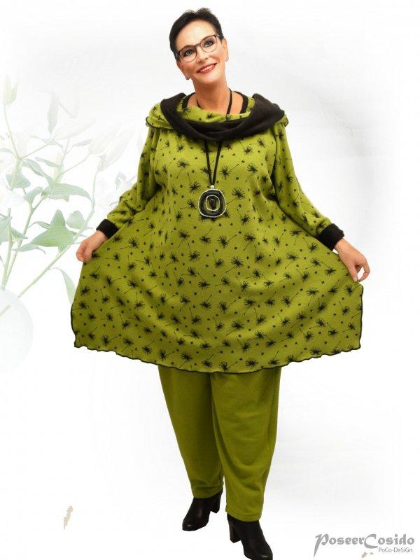 PoCo DeSiGn LAGENLOOK Wende-Pullover Long Shirt Pulli Kurz-Kleid L-XL-XXL-XXXL