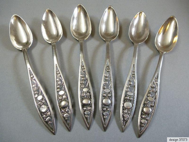 Biedermeier Speisegabel Spaten Doppelfaden Wappen 12 Lot Silber Besteck vor 1880