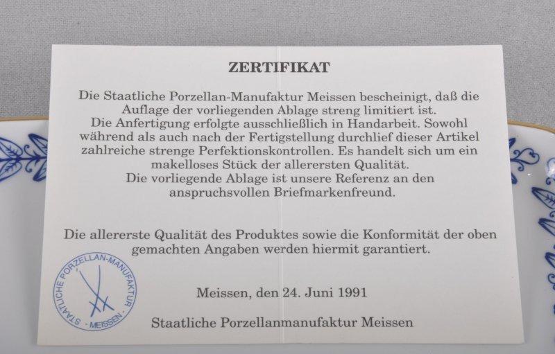 Meissen Tablett / Ablage in OVP mit Zertifikat, 1.Wahl, limitiert ...