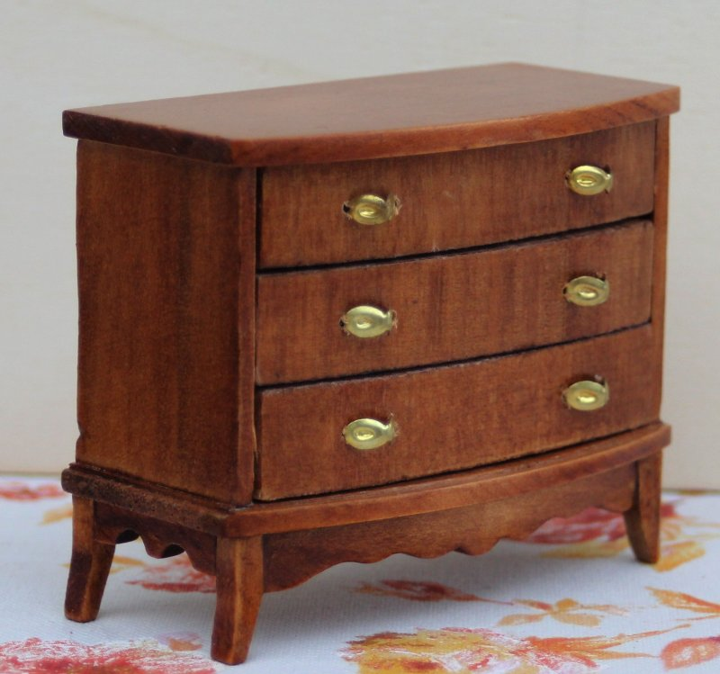 puppenstube kommode holz mit 3 schubladen 70er jahre mit ovp nr 41 ebay. Black Bedroom Furniture Sets. Home Design Ideas
