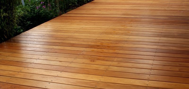 Terrassen len GLATT Holz Garapa Diele Terrasse
