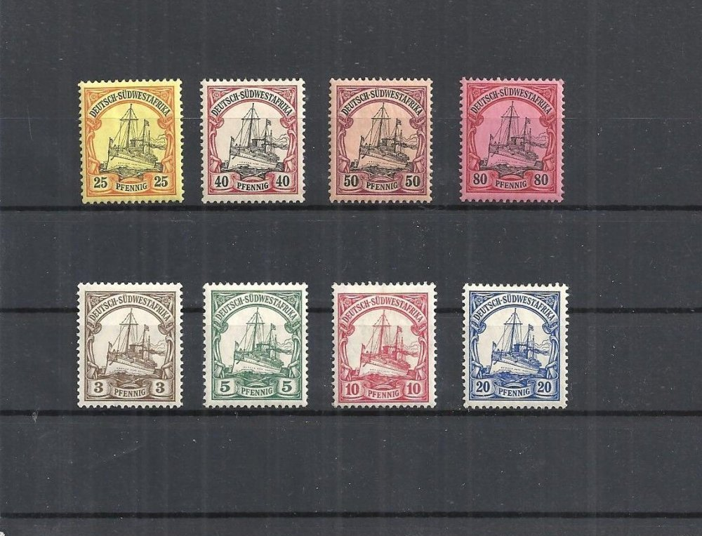 german south west africa 1901, individual brands from