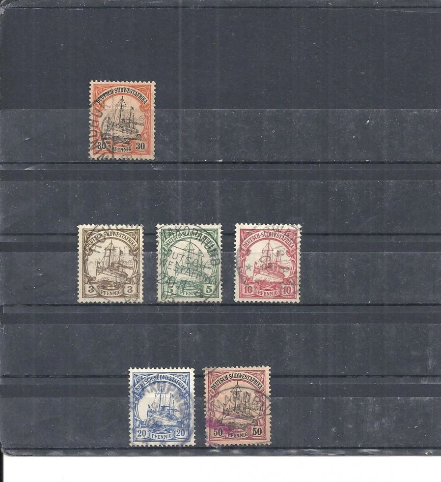 german south west africa 1901, single stamps selection