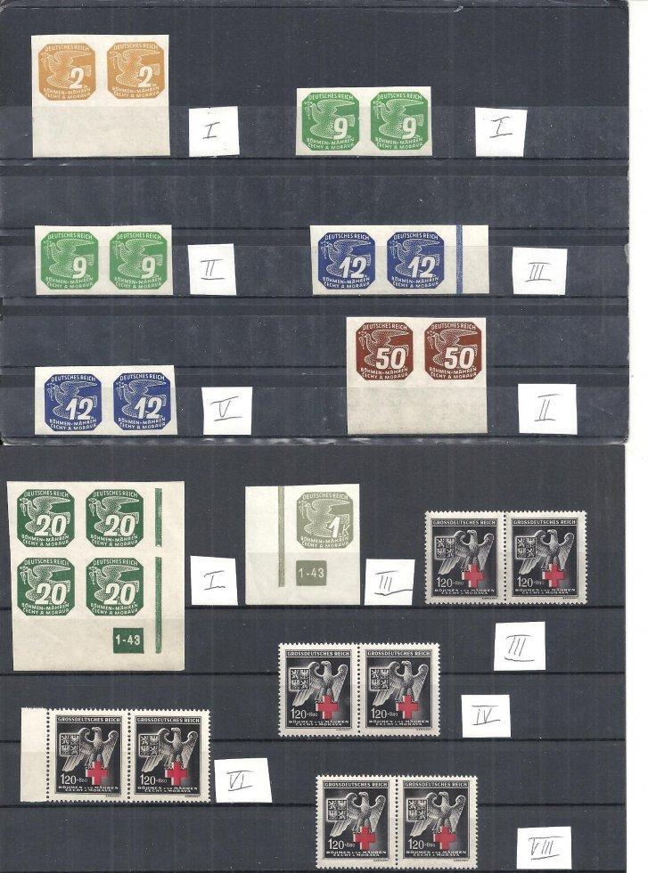 bohemia  moravia 1943 michelnrn 117  132  with disk