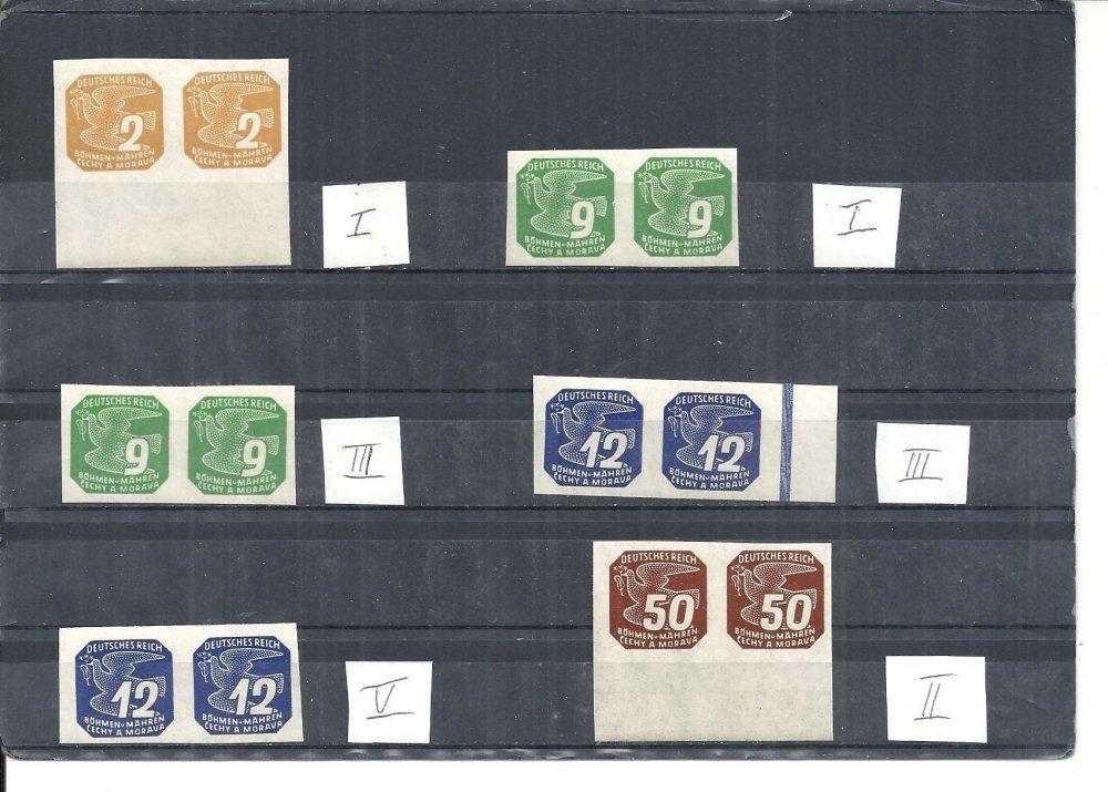böhmen  mähren 1943 michelnrn 117  132  mit