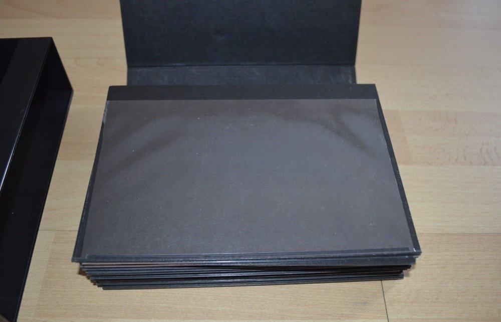 Briefe Mit Vergifteter Cd : Steckkarten schwarz mit schutzfolie für briefe im