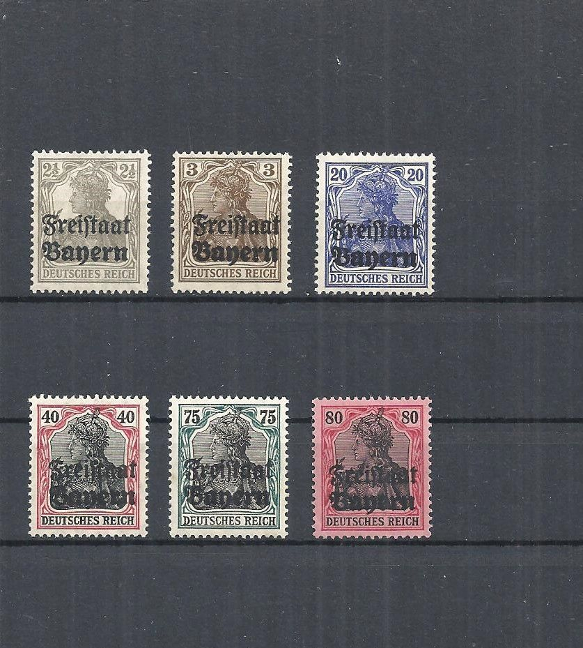 bayern 1919 michelnummern aus 136  151  postfrisch