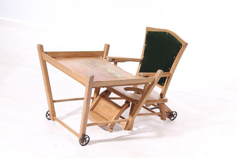 Tavoli Da Gioco Per Bambini : Antico seggiolone sedia per bambini legno tavolo da gioco ebay