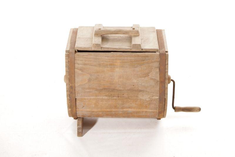 sch ne alte butterschleuder butterfass holzfass holz deko butter herstellung ebay. Black Bedroom Furniture Sets. Home Design Ideas