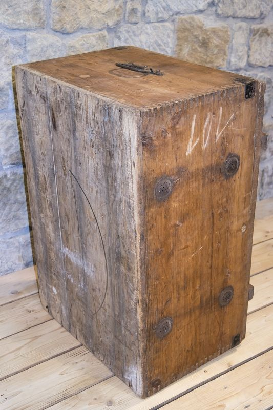 old wooden box tool box chest wood workshop treasure chest ebay. Black Bedroom Furniture Sets. Home Design Ideas
